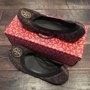 Tory Burch size 9.5 Caroline leopards 🐆 flats 💕
